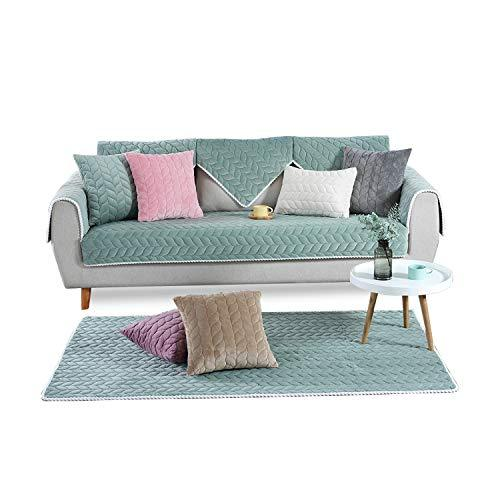 PETCUTE Sectional sofa cover sectional couch slipcovers l shaped sofa  protector corner sofa cover90X160cmGreen