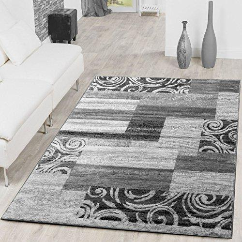 T&T Design Rug Reasonable Patchwork Design Modern Living Room Rug Grey  Cream, Size:190x280 cm