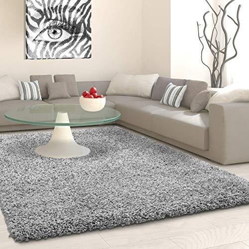VICEROY BEDDING SHAGGY Rug Rugs Living Room Large Soft Touch 5cm Thick Pile  Modern Bedroom Living Room Area Rugs Non Shed (Silver Light Grey, 200cm x  ...