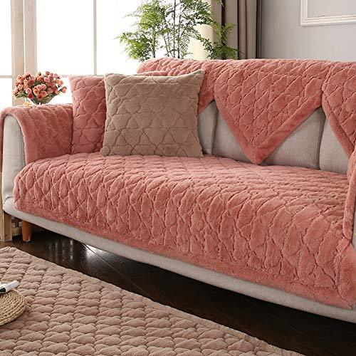 Z One Plush Quilted Sofa Cover Sectional Anti Slip Solid Color Sofa S