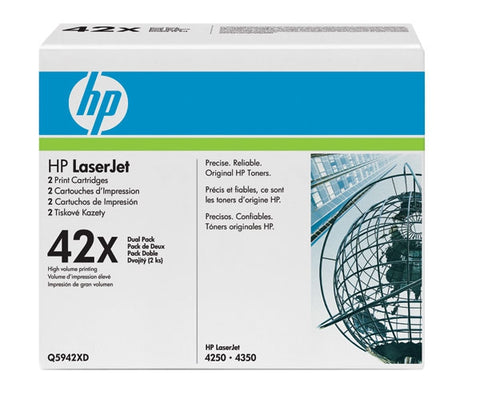 HP HP 42X (Q5942XD) Black High Yield 2-pack Original LaserJet Toner Cartridges (2 x 20000 Yield)