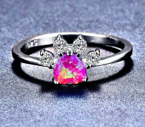 Opal Paw Ring