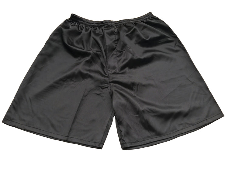 Men's Satin Boxers Shorts Underwear Pack of 2-Black+Purple