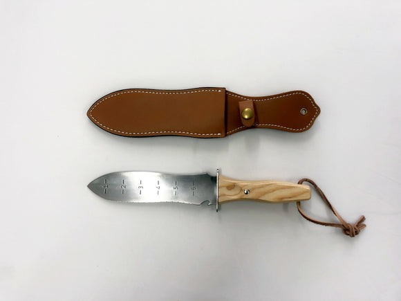 Digging Knife with Leather Sheath