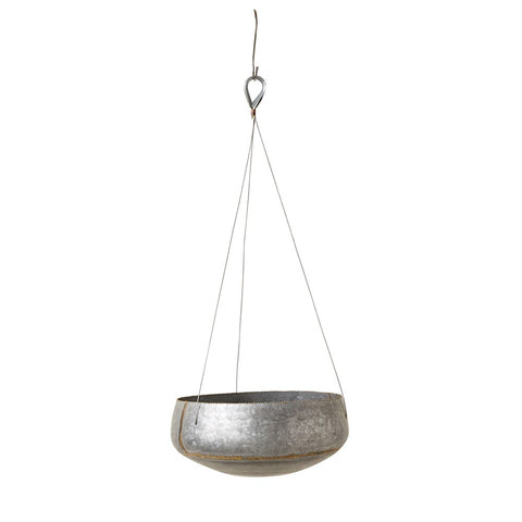 Galvanized Metal Hanging Planter