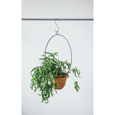Hanging Terra-cotta Planter w/ Metal hanger