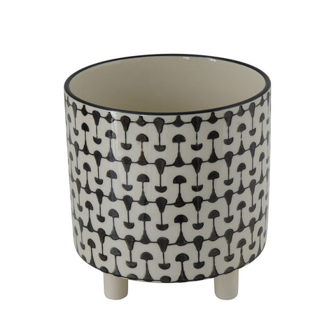 Stoneware Planter, Black & White print