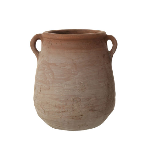 Small Terra-cotta Urn, whitewashed