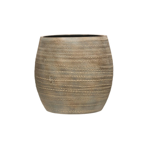 Debossed Terra-cotta Planter, Distressed finish