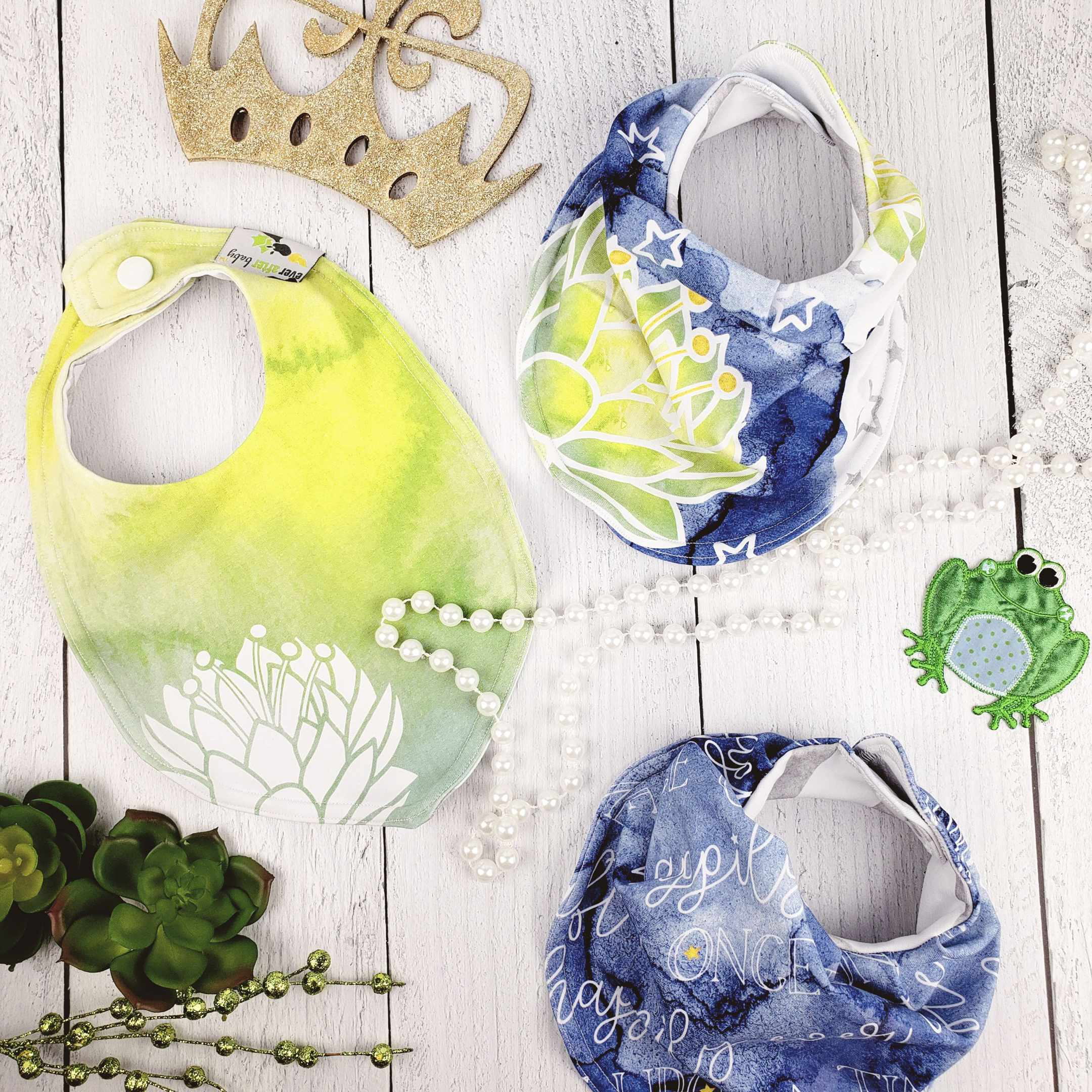 Bib Bundle in Frog Princess Inspired Ever Bright Collection