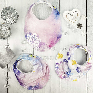 Bib Bundle in Snow Queen Inspired Ever FROSTED Collection