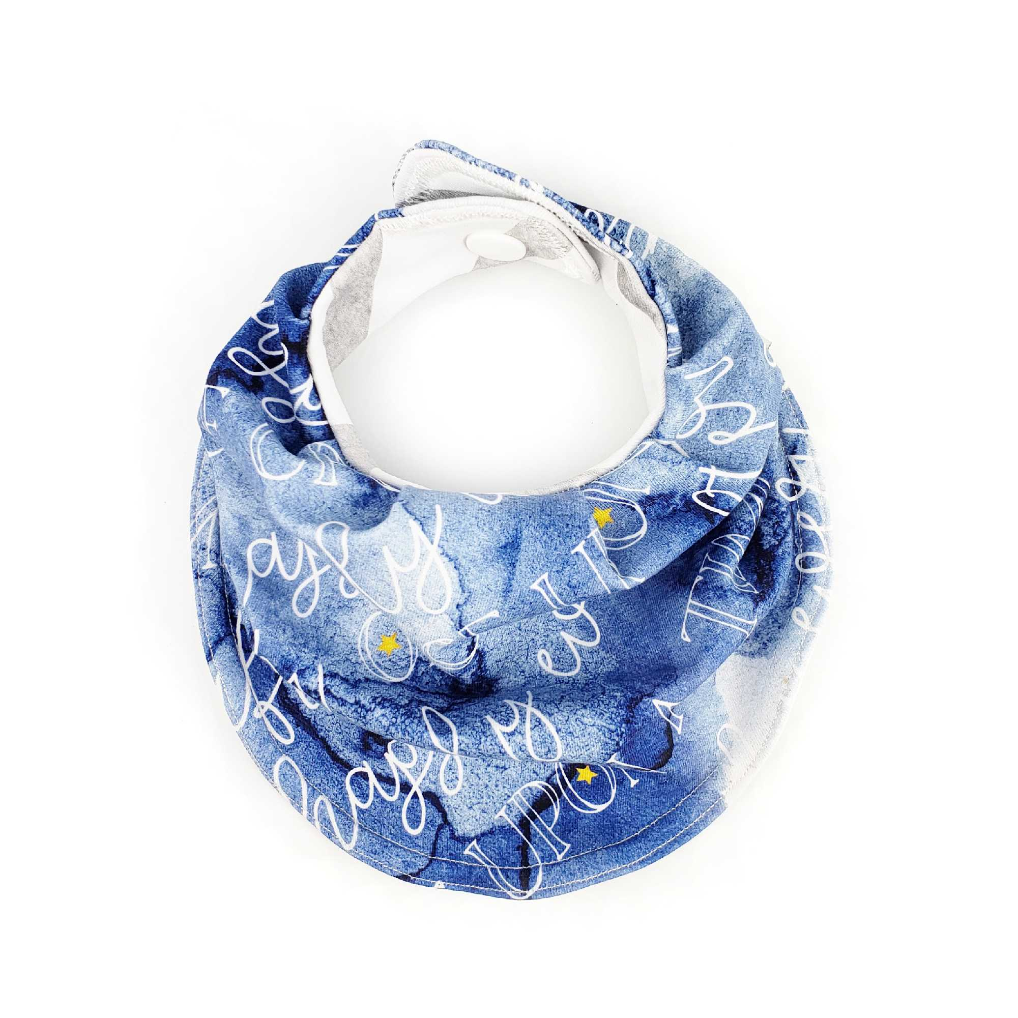 Drooly Bib in BRIGHT Blue Signature