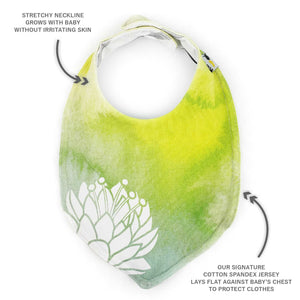 Foodie Bib in Frog Princess Inspired Waterlily - BRIGHT Green
