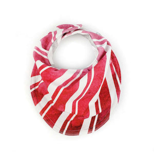 Drooly Bib in HOLIDAY Red Candycane