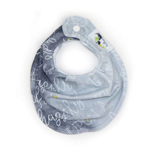 Drooly Bib in Brilliant Gray Signature