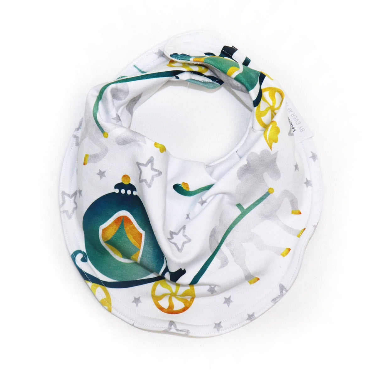 Drooly Bib in Charming Teal Carriage (3883715297314)