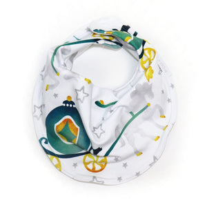 Drooly Bib in Cinderella Inspired Carriage - CHARMING Teal