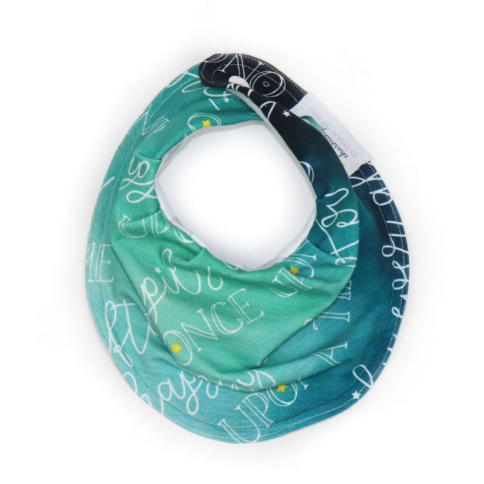 Drooly Bib in Charming Teal Signature
