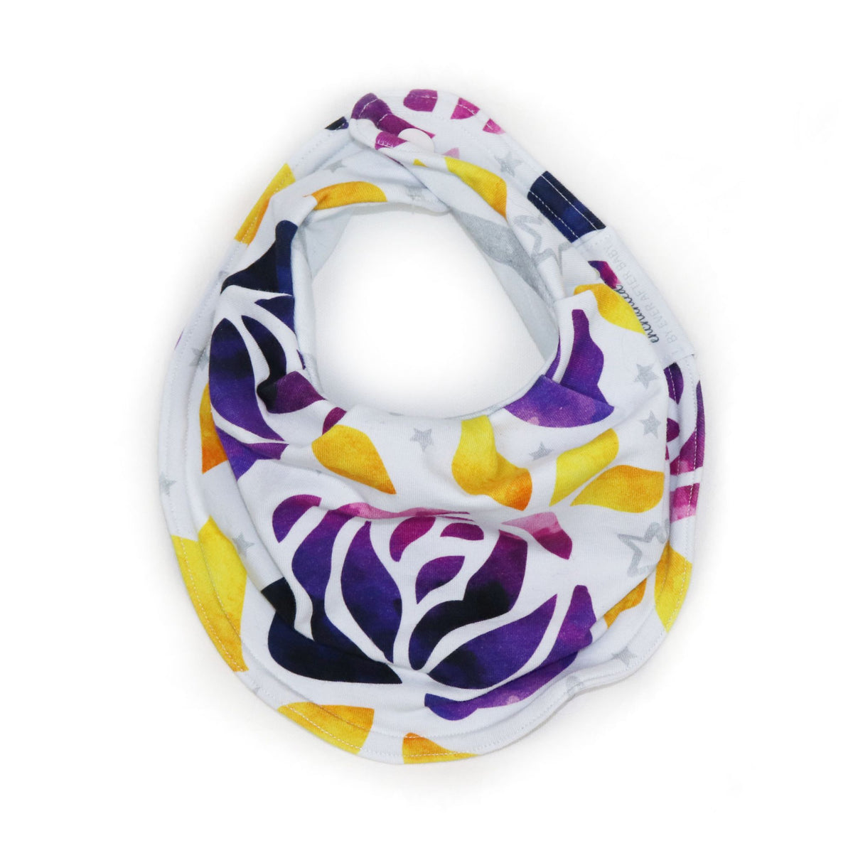 Drooly Bib in Enchanted Purple Roses