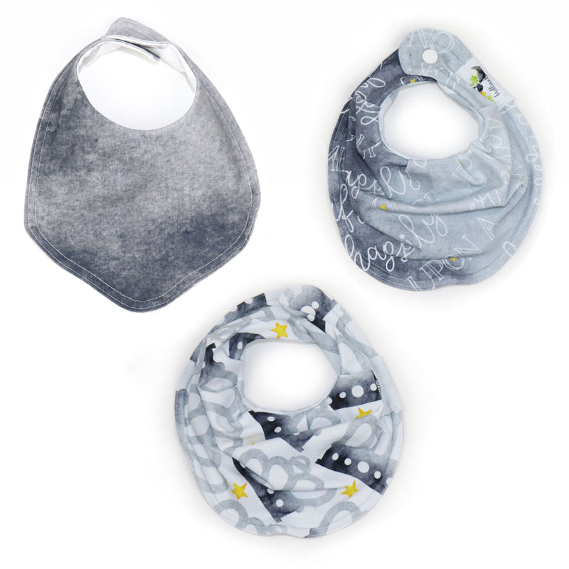 Bib Bundle in Brilliant Gray Crowns