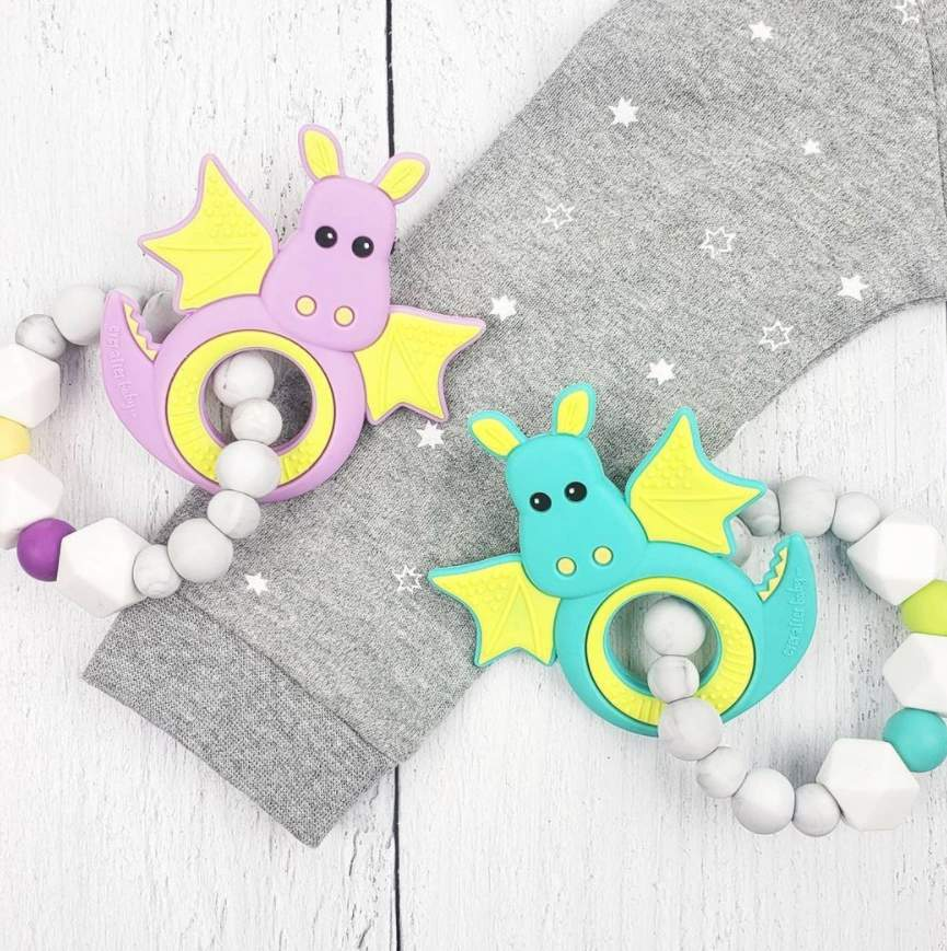 Dragon Teething Ring - Purple