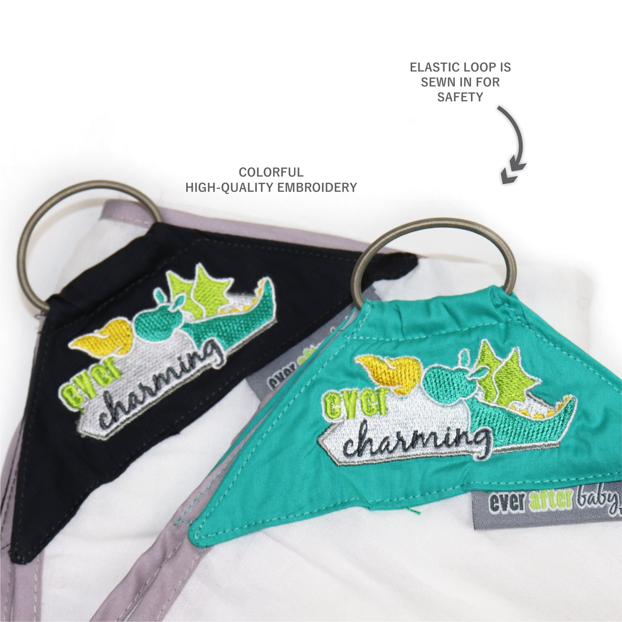 Dribble Shield™ Burp Cloths in Charming