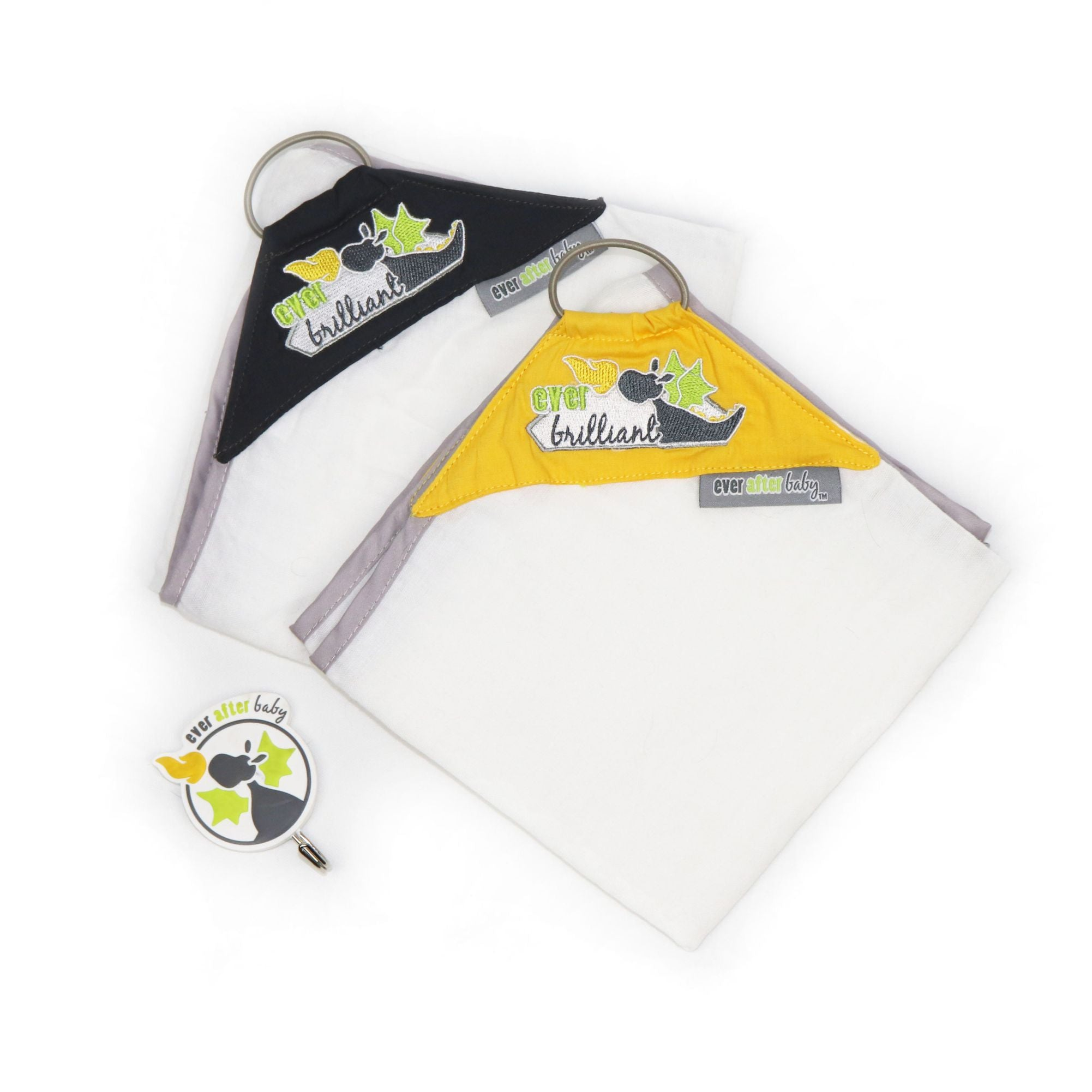 Dribble Shield™ Burp Cloths 2-pack in Brilliant