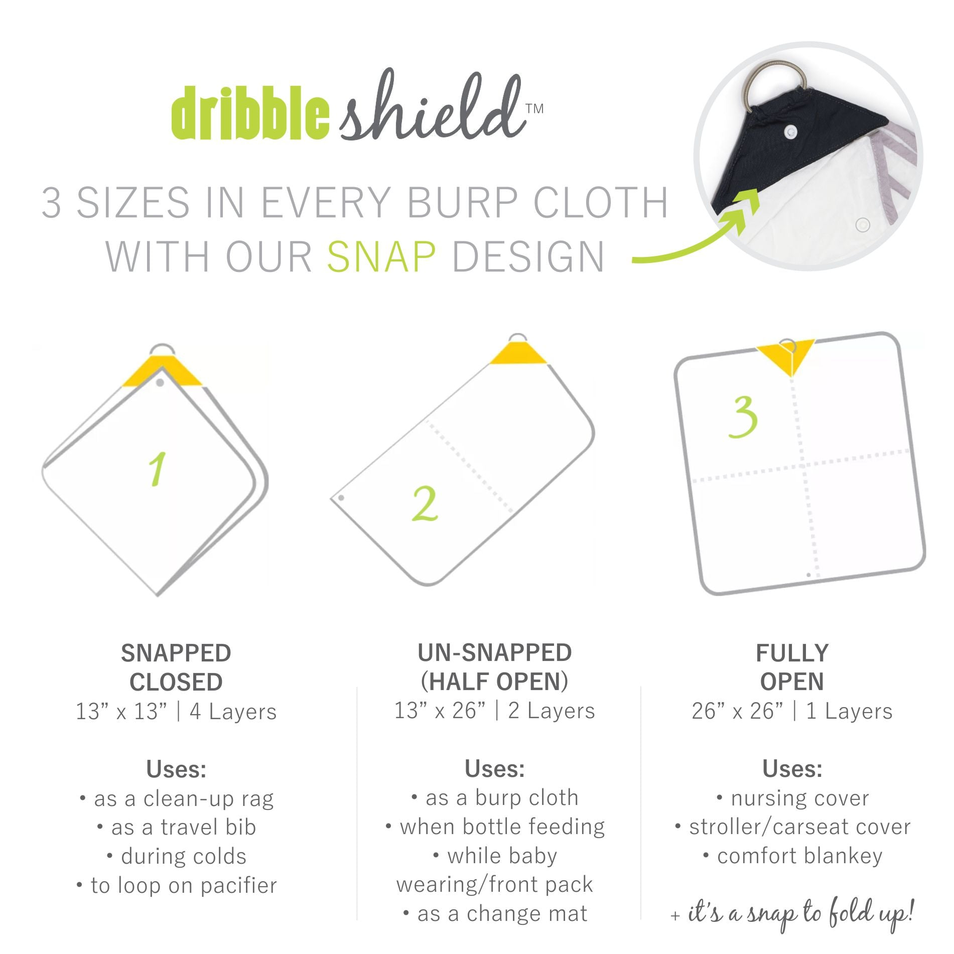 Dribble Shield™ Burp Cloths 4-pack Gift Set in Enchanted