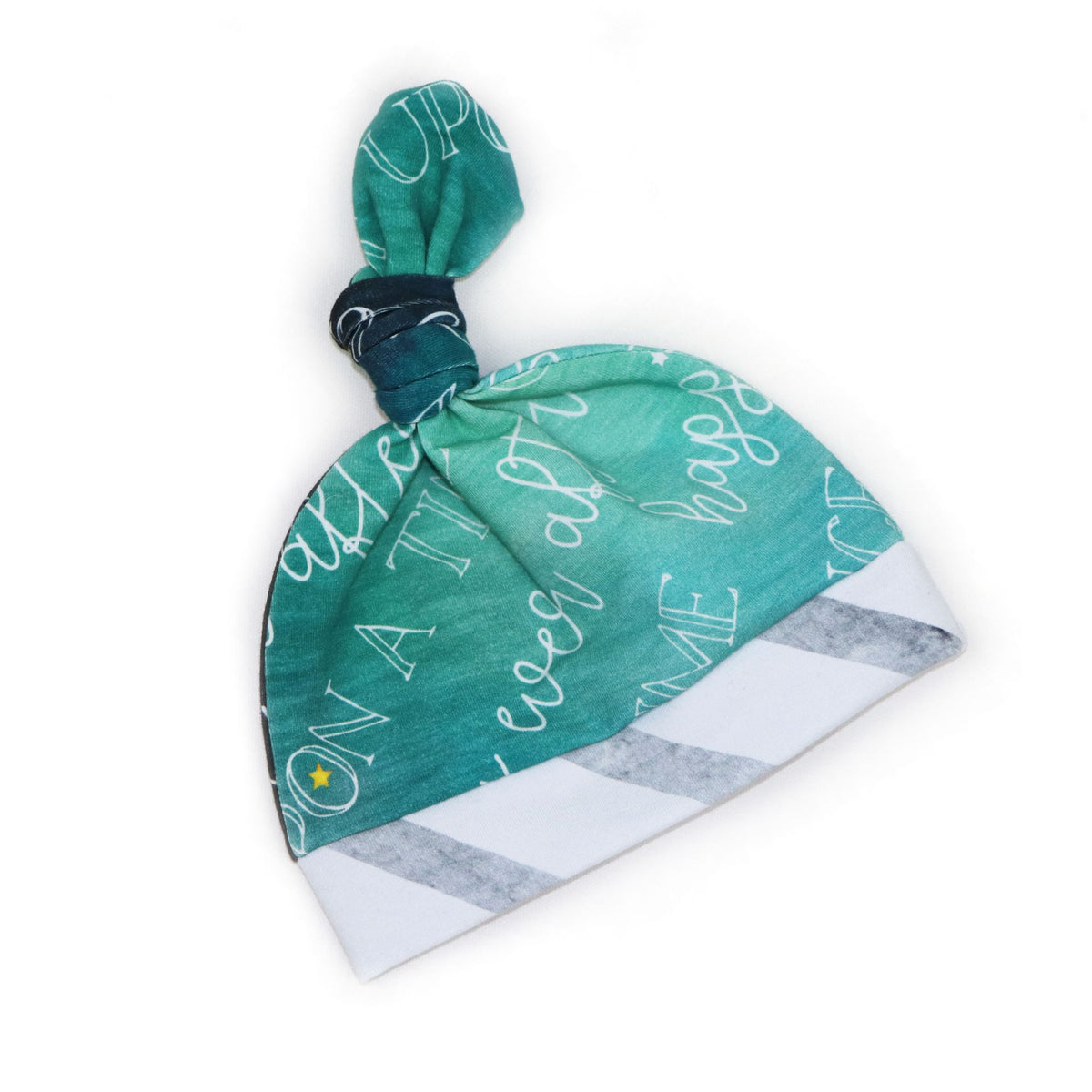 Knot Baby Hat in Charming Teal (3885998866466)