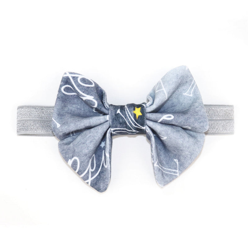 Princess Bow in Brilliant Gray