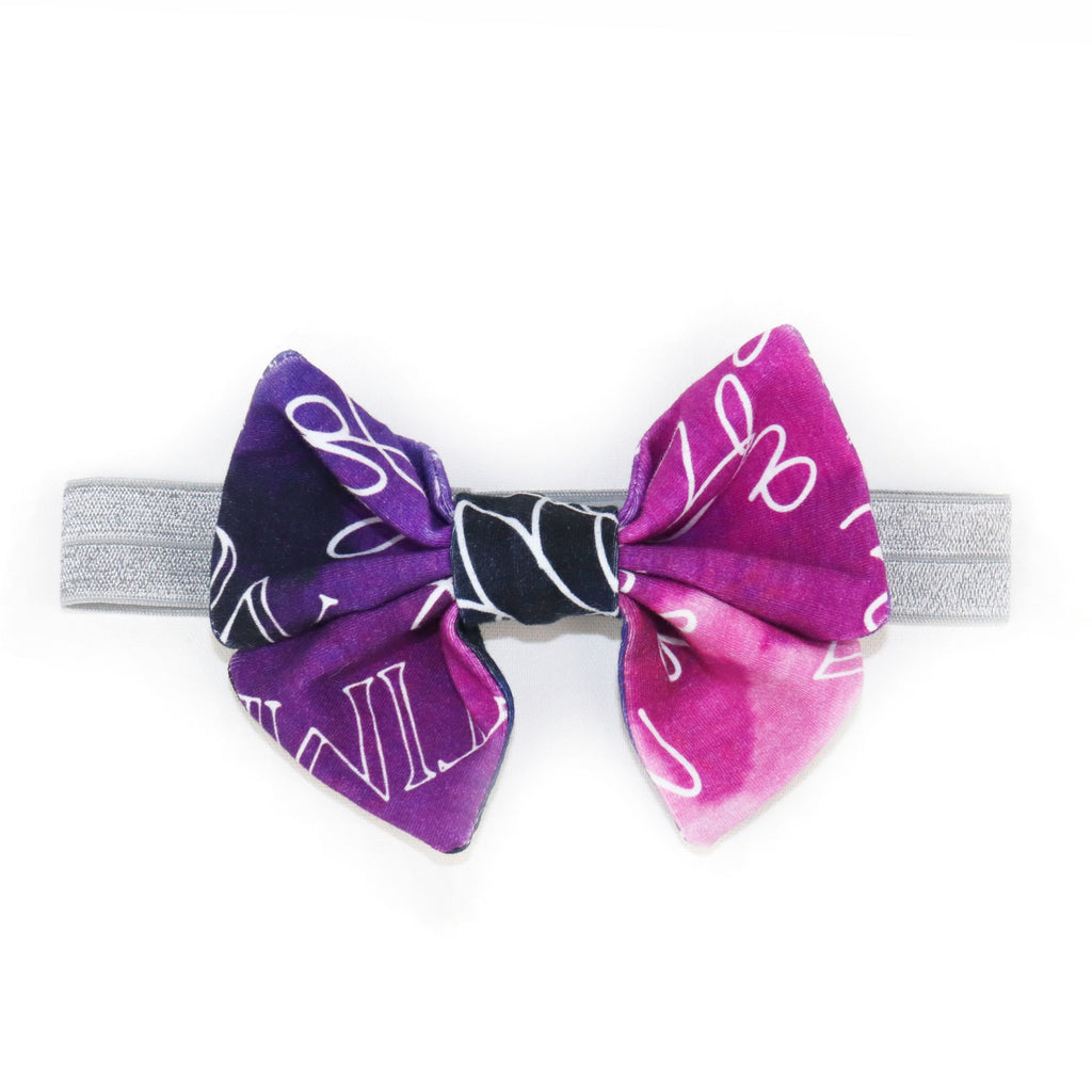 Princess Bow in Enchanted Purple