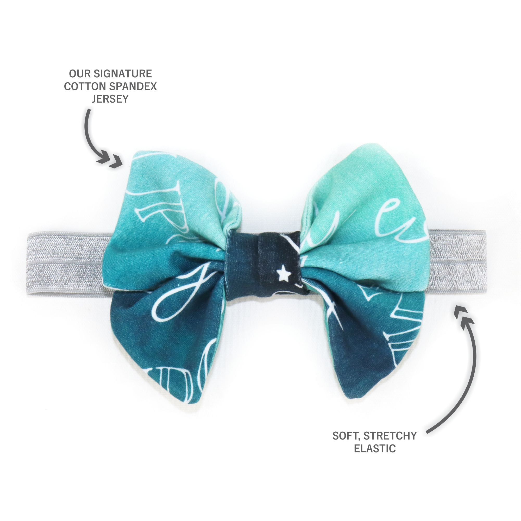 Princess Bow in Charming Teal