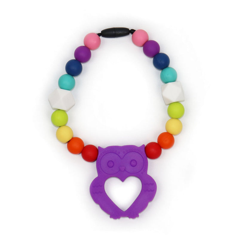 Owl Clip-on Teether in Enchanted Purple (3888410165282)