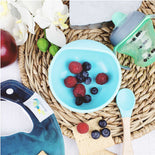 Magic Stay-put Baby Bowl & Spoon Set in Charming Teal