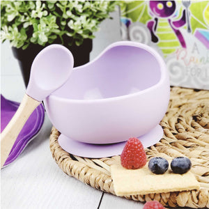 Magic Stay-put Baby Bowl & Spoon Set in Enchanted Purple