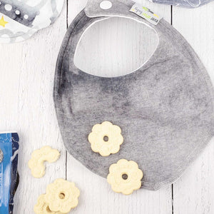 Foodie Bib in BRILLIANT Gray