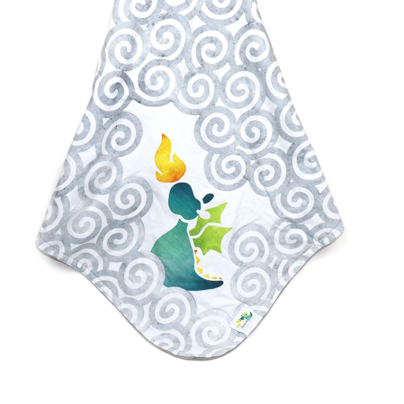 Stroller Blanket in Charming Teal Dragon (3887992537122)