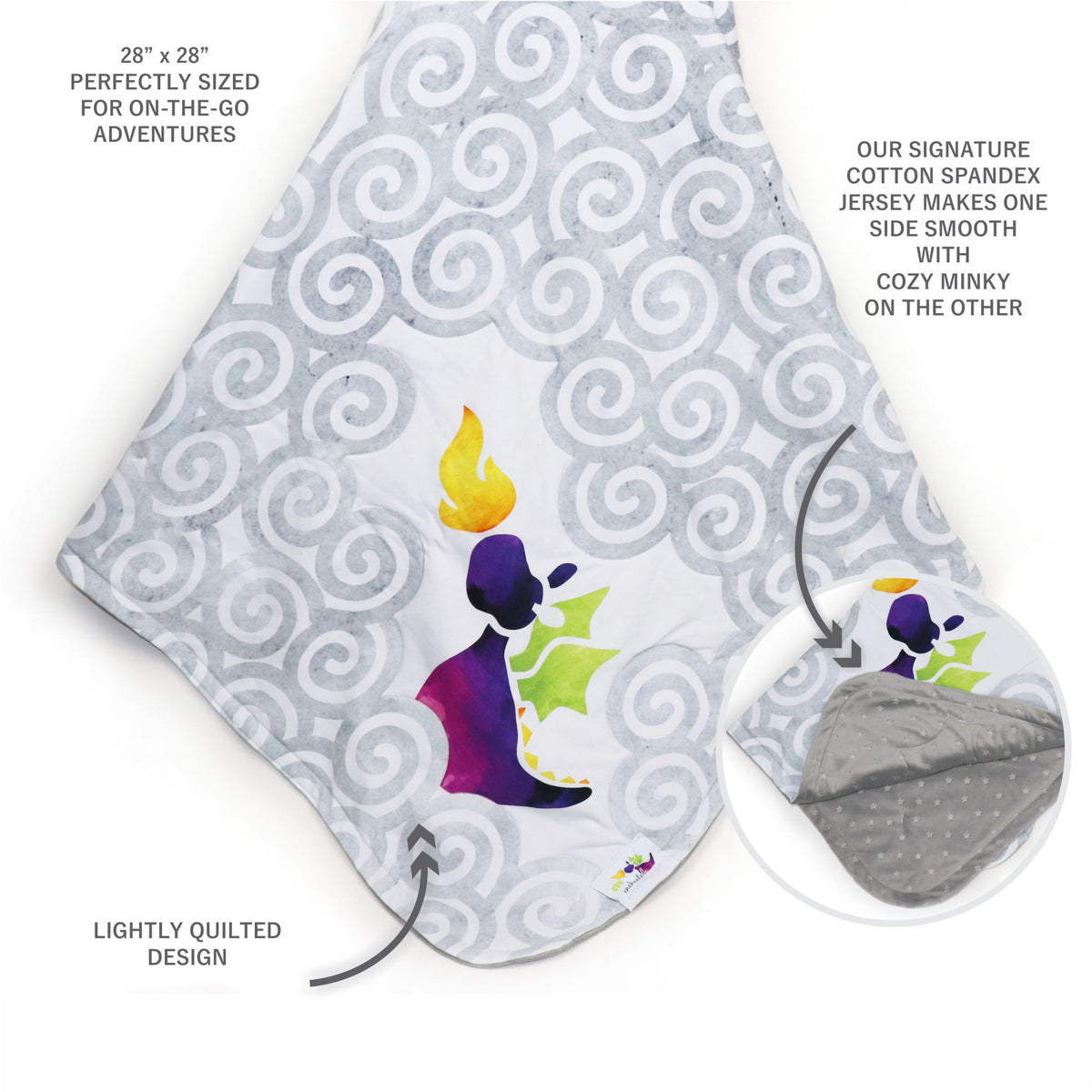 Stroller Blanket in Enchanted Purple Dragon (3887998140450)