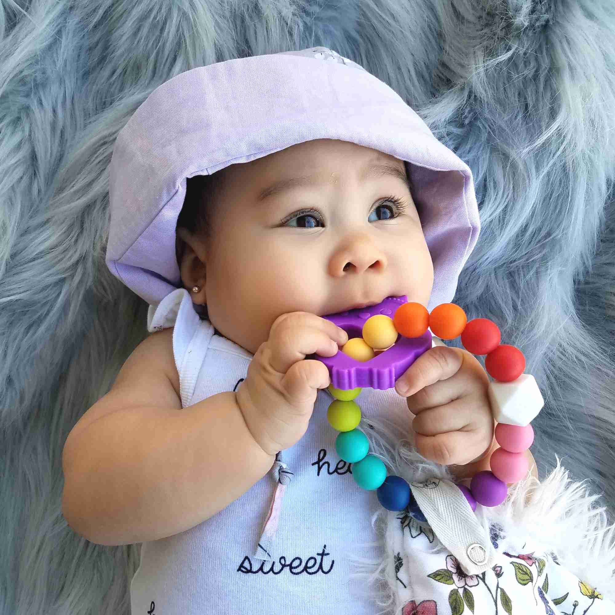 Owl Clip-on Teether in Enchanted Purple