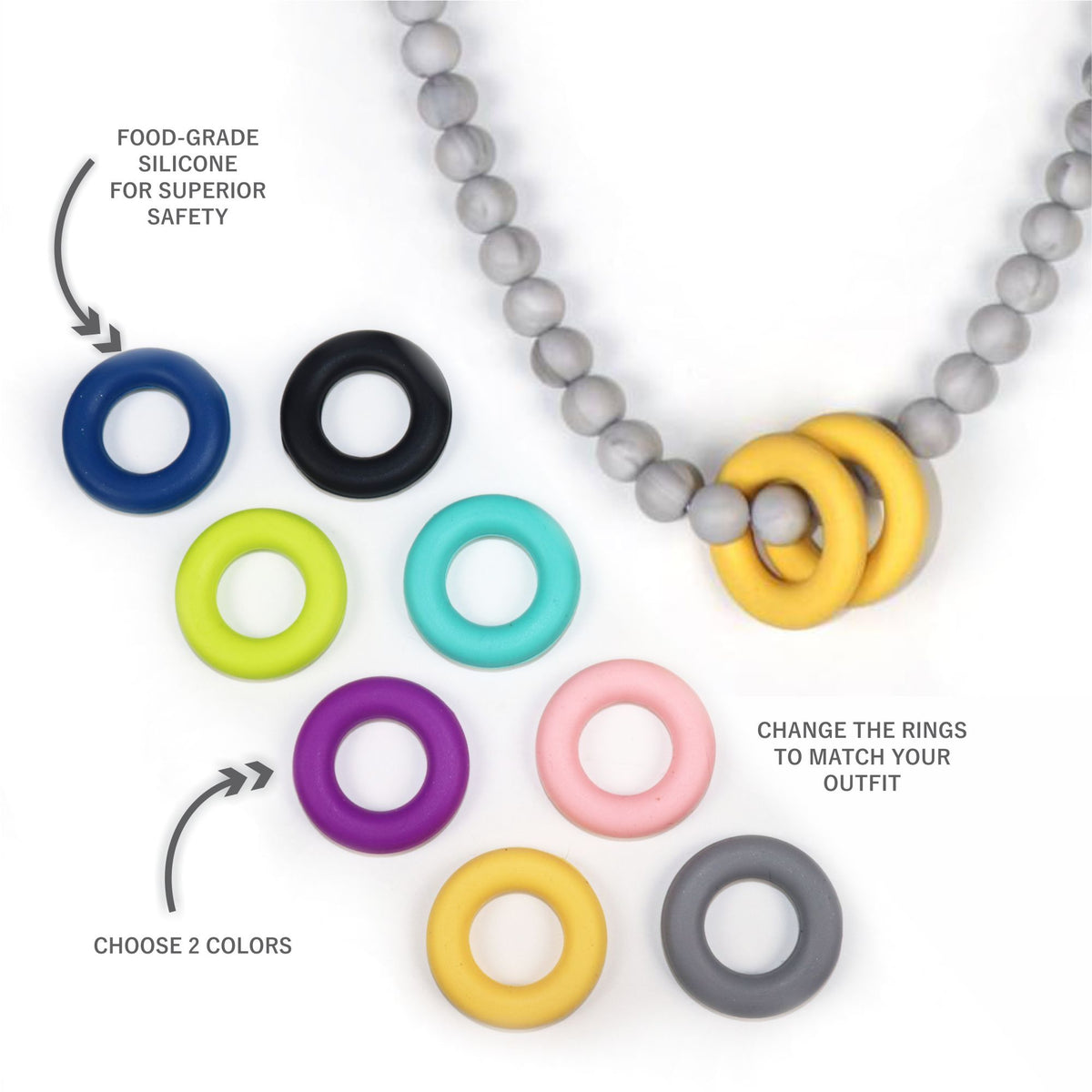 Momma Necklace Teether (3888445292578)