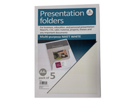 Cathedral Presentation Folders Matt White - Pack of 5
