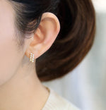 K18YG Atonal Akoya Baby Pearl Earrings-Perlagione Eshop