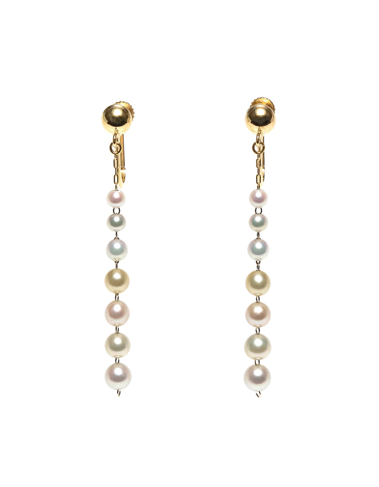 K14YG Atonal Akoya Baby Pearl Drop Earrings --Perlagione Eshop