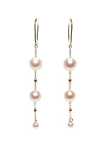 K18YG Atonal Akoya Pearl Earrings-Perlagione Eshop