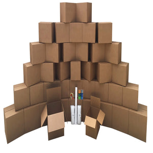 Smart Moving Bigger Boxes Kit 3 - 40 Moving Boxes & Packing Supplies