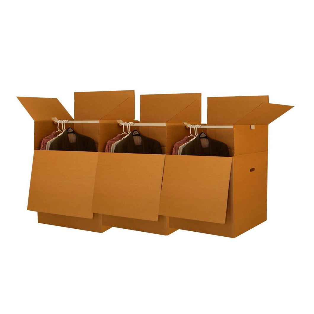 Short Wardrobe Boxes - Bundle of 3 Boxes