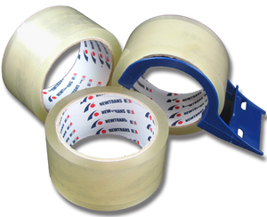 Packing Tape - 3 Rolls + Light Duty Tape Dispenser
