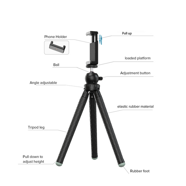 Professional extendable Tripod for DSLR cameras and smartphones