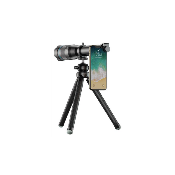 60x zoom Telephoto Lens & Monocular with extendable Tripod for smartphones