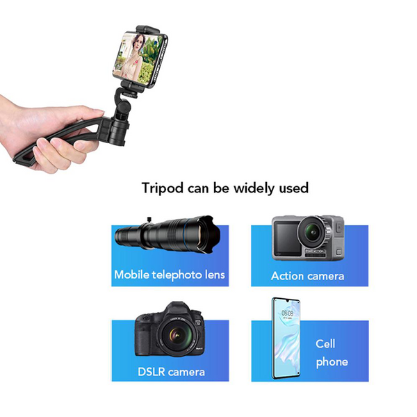 36x zoom Telephoto Lens & Monocular with mini Tripod for smartphones